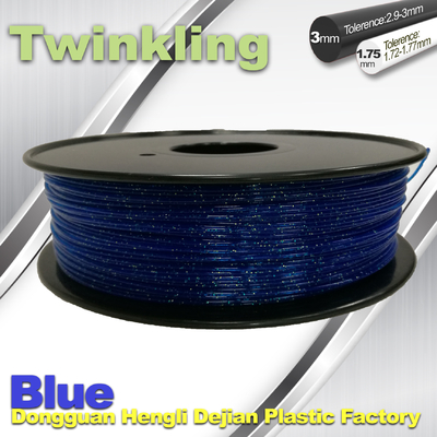 Cina Blue Color Flexible 3D Printer Filament 1.75 3.0mm Twinkling Filament 200°C - 230°C pemasok
