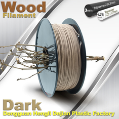 Cina Anti Corrosion Wooden Filament For 3D Wood Printing Material 1.75mm / 3.0mm pemasok