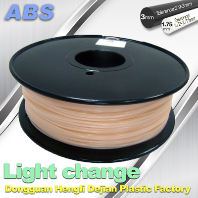 Cina ABS Light Change Color Changing Filament Stable In Performance pemasok