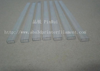Cina Transparent Square PC Hard Plastic Tubes For Electronic Appliances , Lighting Non - toxic pemasok