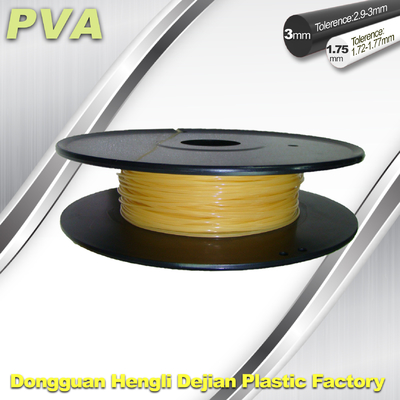 1.75 / 3.0 mm PVA Dissolvable 3D Filament Materials For 3D Printer Water Soluble Filament