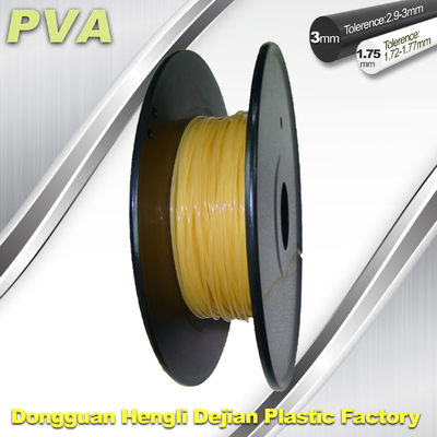 Water Soluble Support Material PVA 3D Printing Filament 1.75 / 3.0 mm Natural