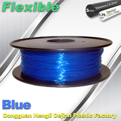High Soft TPU Rubber 3D Printer Filament 1.75mm / 3.0Mm In Blue