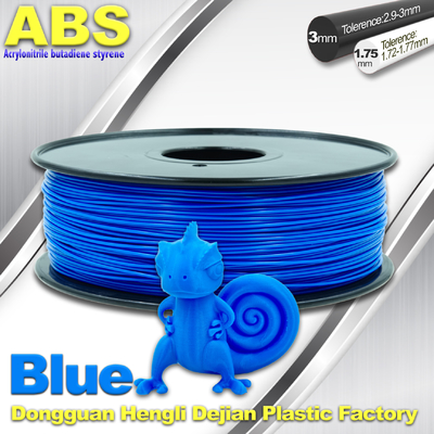 Bahan 3D Printer Strength Blue Filament, 1.75mm / 3.0mm ABS Filament Consumables