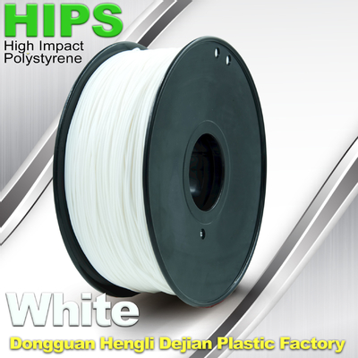 Custom White HIPS 3D Printer Filament 1.75mm / 3mm, Material Cetak 3D Reusable