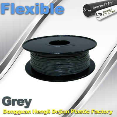Rapid Prototyping 1.75 / 3.00mm Flexible 3d Printer Filament  0.8KG / Roll