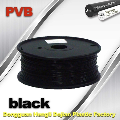 High Strength ABS dan PlA 3D Printer Filament 1.75mm Warna Hitam