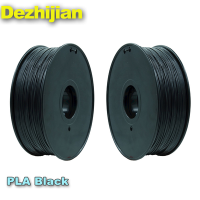 Filamen Printer Hitam 3d PLA 1,75 Mm Pemanasan Bed Suhu 50 ℃