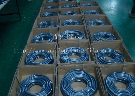 Fluorescence PVC Plastic Flexible Hose Blue / Green For Automobiles , Computers , Lighting